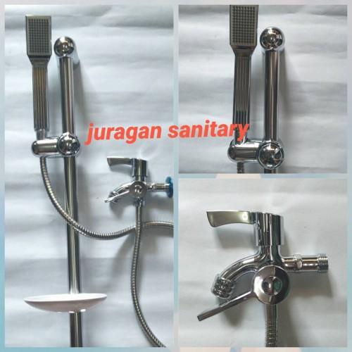 Foto Produk Paket shower + Tiang Shower + Kran Cabang MURAH MERIAH dari Juragan Sanitary