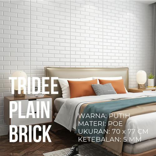 Foto Produk Wallpaper Foam 3D Bata Putih|White Brick Panel|TRIDEE CLASSIC BRICK - PLAIN BRICK 5MM dari Tridee Wallpaper