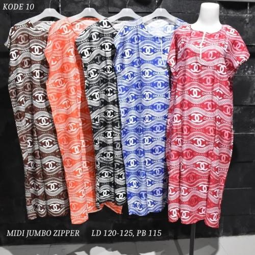 Foto Produk Grosir Daster Midi Jumbo Rayon Busui Zipper Murah Baju Tidur Kode 10 dari Rumah Batik Pekalongan 2