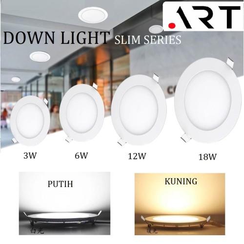 Foto Produk DOWNLIGHT LED IB BULAT 3/6/12/18 WATT / LAMPU PLAFON / LAMPU RUMAH - Kuning, 3 watt dari tokoelectrical