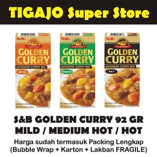 Foto Produk S&B GOLDEN CURRY 92 gr Mild / Medium Hot / Hot - Mild dari Tigajo Super Store