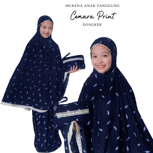 Foto Produk Mukena Anak Tanggung Print Cemara ( 8-12 thn ) - DONGKER dari yenny.collection