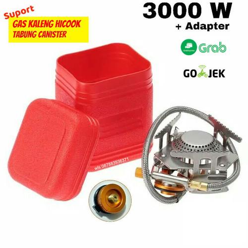Foto Produk Kompor Lipat / kompor mini camping / kompor ultralight 3000W + adaptor - KOMPLIT ADAPTER dari Wali Limbung Store
