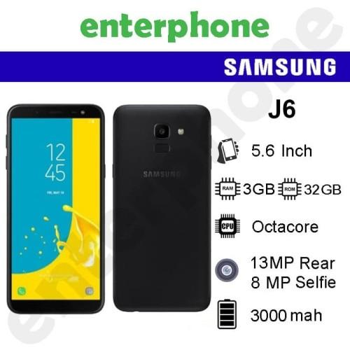 Foto Produk Samsung Galaxy J6 2018 Ram 3/32GB Garansi Resmi Sein - Hitam dari enterphone2