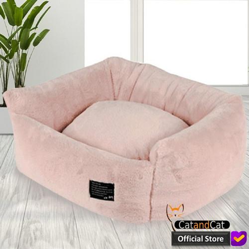 Foto Produk Cat Bed - Kasur kucing mewah dengan bantal bahan yang halus dan lembut - Merah Muda dari catandcat