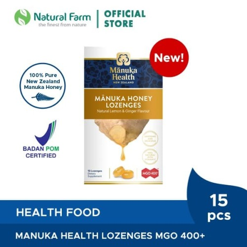 Foto Produk Manuka Health MGO 400+ With Ginger&Lemon Lozenges dari Natural Farm