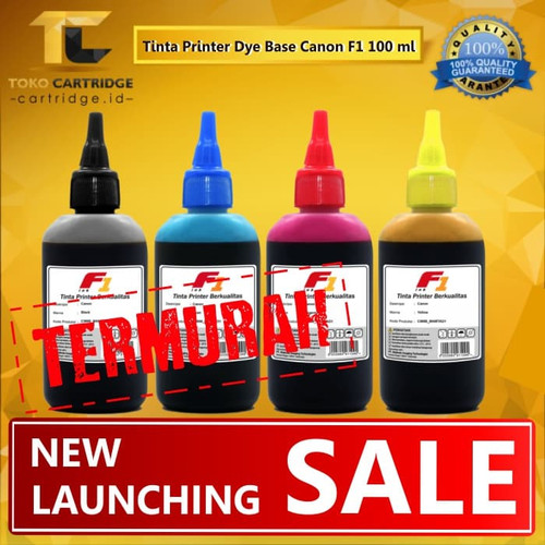 Foto Produk Tinta Refill isi ulang Printer Canon F1 100 ml 1 Set Warna CMYK 100ml - F1 INK dari TokoCartridgeOnline