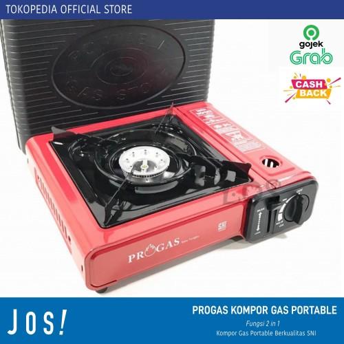 Foto Produk PROGAS KOMPOR GAS PORTABLE 2 in 1 - Kompor Only dari J O S