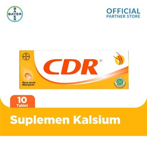 Foto Produk CDR Suplemen Kalsium Rasa Jeruk 10 Tablet dari Bayer Health Partner