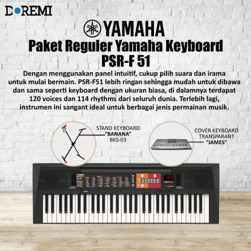 Foto Produk Paket Reguler Keyboard PSR F-51 dari PT Doremi Music