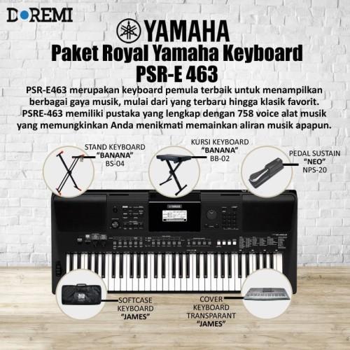 Foto Produk Paket Royal Bundling Keyboard PSR E 463 / PSR E463 / PSR E-463 dari PT Doremi Music