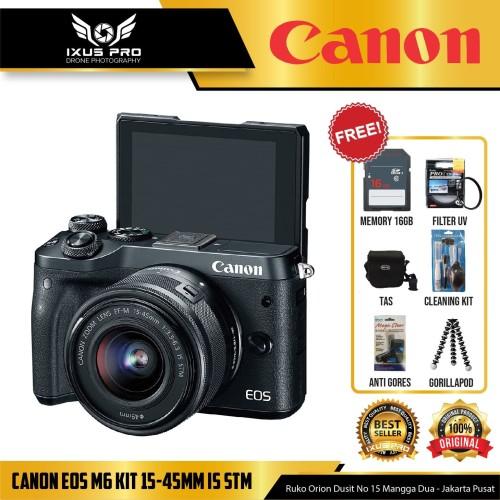 Foto Produk CANON EOS M6 KIT 15-45MM IS STM ORIGINAL dari ixuspro