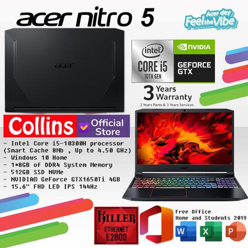 Foto Produk ACER PREDATOR NITRO 5 AN515-55 i5-10300H 8GB 512GB GTX1650 4GB 144Hz dari Collins Official