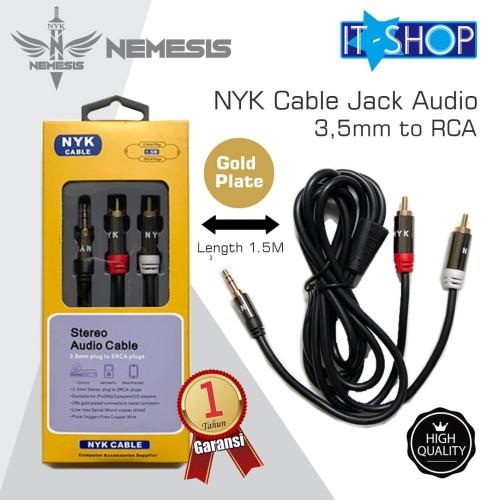 Foto Produk NYK Cable Jack Audio 3,5mm to RCA dari IT-SHOP-ONLINE