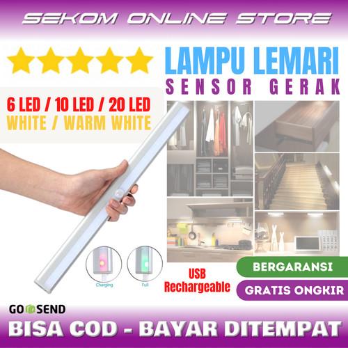 Foto Produk LAMPU LED LEMARI KABINET DAPUR TANGGA USB RECHARGEABLE *NEW PRODUCT dari SEKOM ONLINE STORE