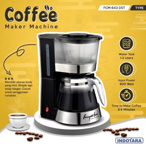 Foto Produk Mesin Kopi / Coffee Maker Ferratti Ferro FCM-643DST dari PT. Indotara Persada
