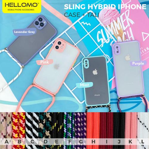 Foto Produk Sling Case Hybrid Pastel iPhone Lanyard Sling Hybrid Pastel iPhone - TALI G dari hellomo