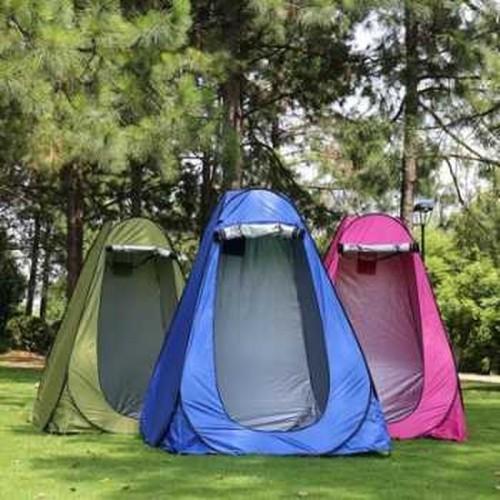 Foto Produk Tenda Toilet Portable Automatic Open untuk Camping - Biru - Camouflage dari GUDANG DROPSHIPPER