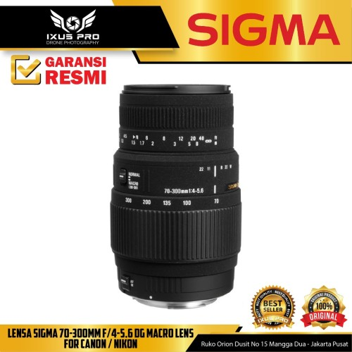 Foto Produk Lensa Sigma 70-300mm F/4-5.6 DG Macro Lens For Canon / Nikon dari ixuspro