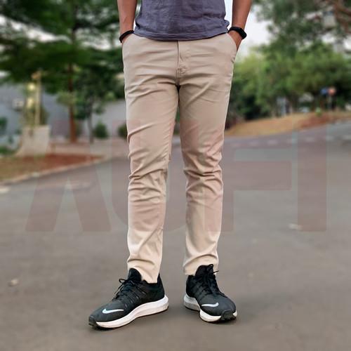 Foto Produk Celana Chino Panjang Semi Formal Pria Original by Aufi - Cream, 27 dari Aufi Store