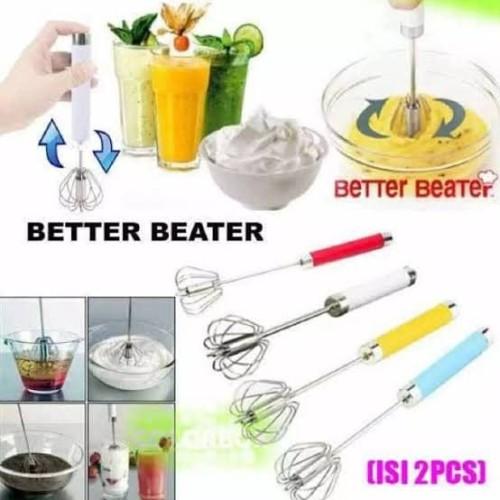 Foto Produk Beater Better is 2 pcs Manual Mixer Kocokan Telur Telor 2pcs Cetakan - 2 Pcs dari Grosir Kitchenware