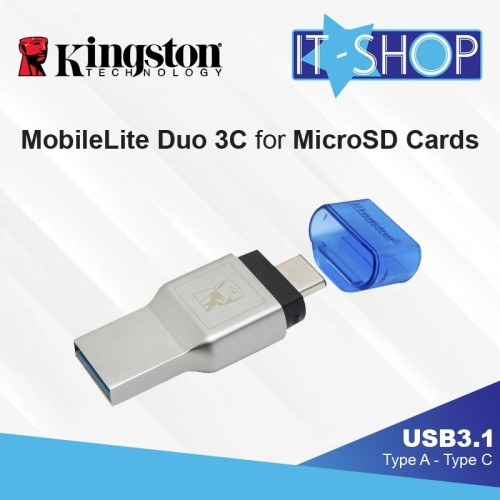 Foto Produk Kingston MobileLite Duo 3C Reader for USB Type-C and MicroSD Cards dari IT-SHOP-ONLINE