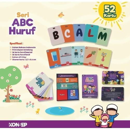 Foto Produk Flashcard HURUF ABC - Kartu Edukasi - Flash Card by Konsep Studio dari Kinantikomik
