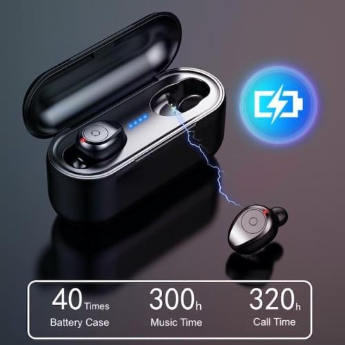 Foto Produk AMoi F9 TWS Mini Bluetooth V5.0 Stereo Bass Wireless Headset dari MAXI BSG OFFICIAL