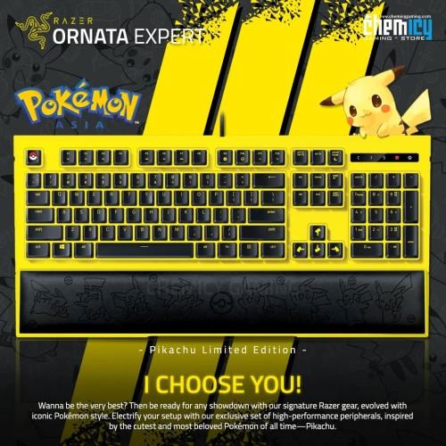 Foto Produk Razer Ornata Expert Pikachu Limited Edition Gaming Keyboard dari Chemicy Gaming