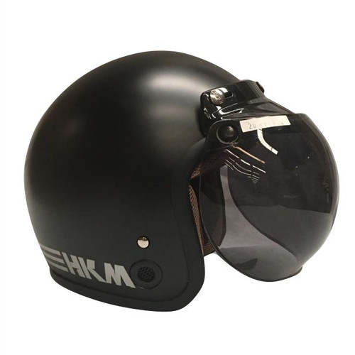 Foto Produk Helm Retro Line Black Doff HKM (Free kaca helm) dari GudangHelm