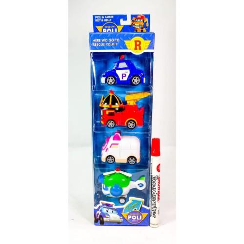 Foto Produk Mainan Figure Robocar POLI Isi 4pcs Pull Back - 3p dari Home Online Toys