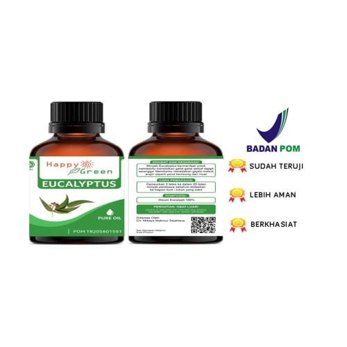 Foto Produk Happy Green Eucalyptus Essential Oil (Minyak Eukaliptus ) 80ml Murni dari Happy Green Garden - JKT