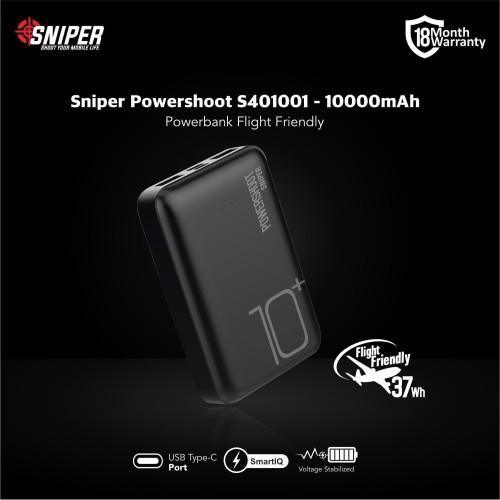 Foto Produk Sniper PowerShoot S401001 - 10050mAh Power Bank - Hitam dari Sniper Indonesia
