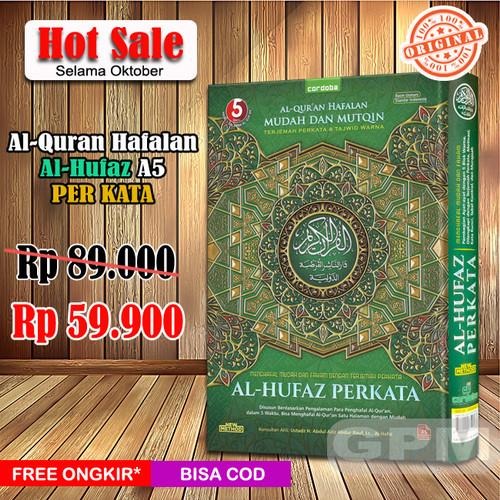 Foto Produk Al-Quran Hafalan Al-Hufaz PER KATA (A5) - Hijau dari Grosir Produk Muslim