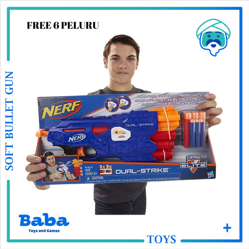 Foto Produk NERF GUN N-STRIKE ELITE DUAL STRIKE BLASTER ORIGINAL NEW dari Baba Toys and Games