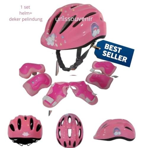 Foto Produk helm sepeda anak adjustable helm sepatu roda inline + deker dari unissouvenir