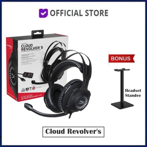 Foto Produk Kingston HyperX Cloud Revolver S Pro Gaming Headset Dolby 7.1 Surround - Headset Only dari DUNIA COMPUTER & SERVICE