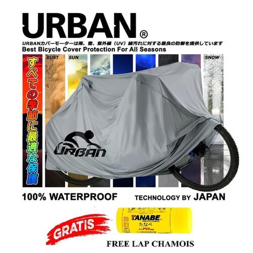 Foto Produk Sarung Sepeda Bicycle Cover Waterproof Urban Uk Dewasa Polygon Wimcyle - ALL SILVER dari GrosirOtomotif