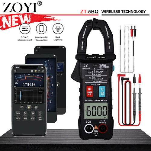 Foto Produk Zoyi ZT-5BQ Tang Amper AC Current 600A Bluetooth Pengukur Arus Listrik dari HOUSE SPAREPART