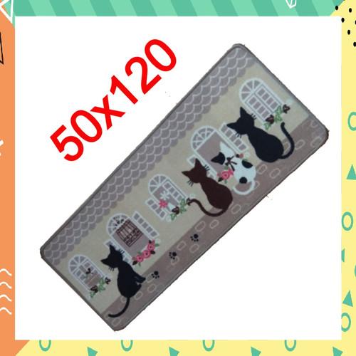 Foto Produk Keset Dapur Karpet Dapur Panjang Motif Anti Slip 50x120cm - Kucing - D5 dari R U SHOPPING
