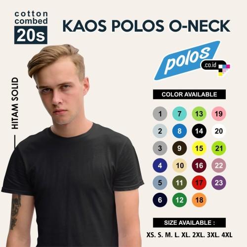 Foto Produk Tshirt / Kaos Polos Oneck Super Cotton 20s Unisex - XS dari polos.co.id