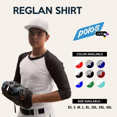 Foto Produk Kaos Raglan / Kaos Reglan Polos Lengan 3/4 Super Cotton 20s Unisex - Abu - Maroon, Ukuran Anak 3 dari polos.co.id