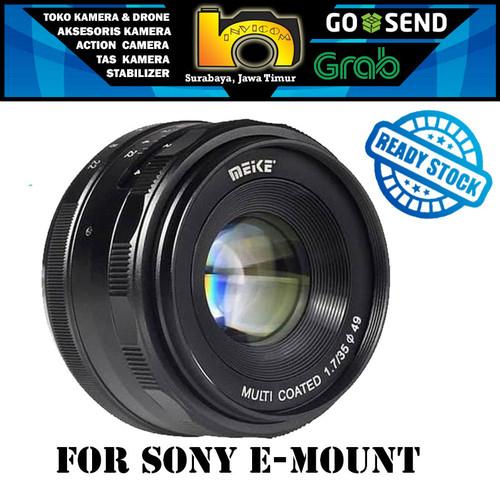 Foto Produk Lensa Meike 35mm F1.7 For Mirrorless Sony E-Mount - Meike 35mm Only dari Invicom