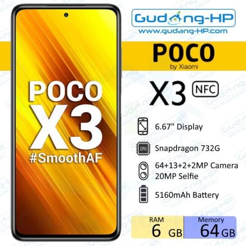 Foto Produk Xiaomi Poco X3 NFC 6/64 GB Garansi Resmi - Biru dari Gudang-HP