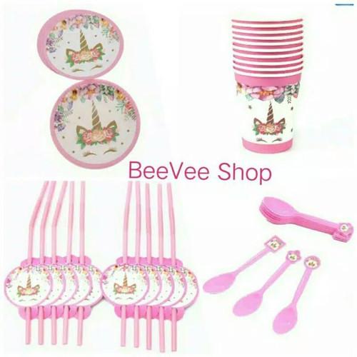 Foto Produk Perlengkapan rumahUltah / Dekotasi ulang tahun karakter unicorn - Sedotan dari BeeVee Shop
