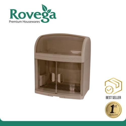 Foto Produk Rovega Rak Piring Premium Dish Cabinet Plado BROWN (Food Grade) dari ROVEGA OFFICIAL STORE