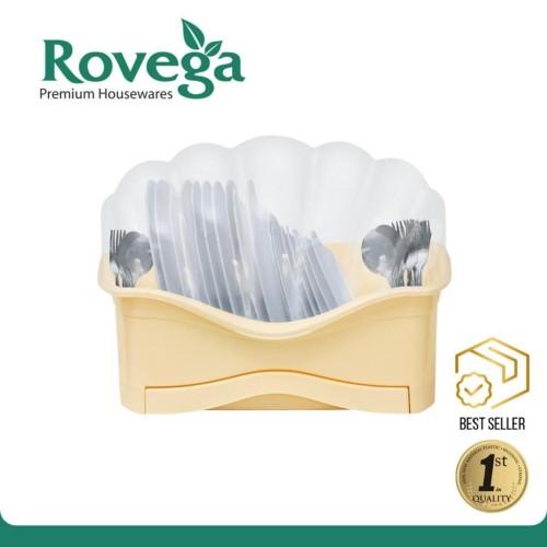Foto Produk Rovega Rak Piring Plastik Premium Dish Rack Shella KREM (Food Grade) dari ROVEGA OFFICIAL STORE