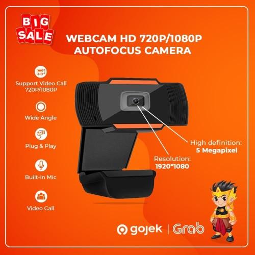 Foto Produk Webcam HD720 Autofocus Camera PC Desktop Portable Laptop Build in Mic - 720P dari GadgetKaca