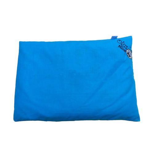 Foto Produk Olus Pillow Bantal Bayi Anti Peyang Isi Kulit Kacang Hijau - Biru Muda dari Wafi Bebe