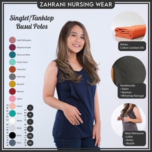 Foto Produk BAJU TANKTOP INNER TANK TOP MANSET ATASAN IBU MENYUSUI BUSUI HAMIL - XXS dari Zahrani Nursing Wear
